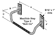 Manhole Step Bolt On Style